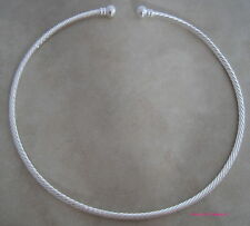 2 silver plated twisted beadable jewelry neckwire necklace choker base