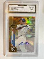 AARON HICKS 2020 TOPPS CHROME Gold REFRACTOR AUTO /50 YANKEES GMA Gem Mint 10