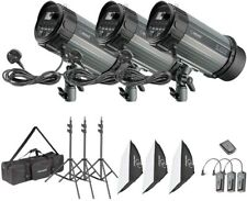 Neewer 900W Studio Strobe Flash Photography Lighting Kit:(3)300W...