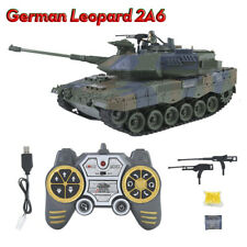 German Leopard 2A6 3D Electric Remote Control Tank Toy Vehicle Model Kids Gift