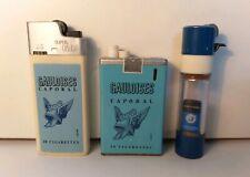 3 ACCENDINI GAULOISES CIGARETTES-CRICKET+CROWN-LIGHTER-MECHERO-BRIQUET-FEUERZEUG