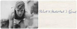 1932 Los Angeles Olympics T&F 4x100m Relay Gold ROBERT KIESEL Orig Autograph 80s