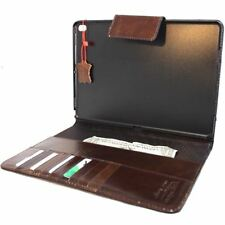 genuine Leather case for apple iPad 9.7 cover stand cards vintage wallet 2017