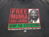 Vintage Free Mumia Abu-Jamal T Shirt Distressed Rage Against the Machine XL