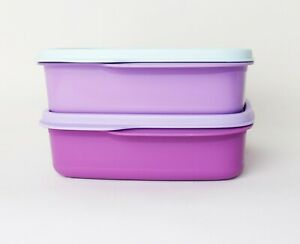 TUPPERWARE Lunchbox Clevere Pause 1x 550ml Lila-Mint + 1x 550ml Fuchsia/lila