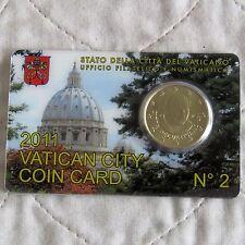 Vatican City 2011 Brillant Universel 50 cents-Scellé Monnaie Pack 2