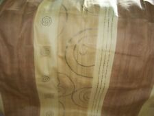 Curtains with striped design in shades gold 45x53 Pencil pleat