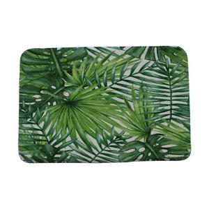 Tropical Plants Printed Bathroom Carpet Outdoor Kitchen Floor Mats
