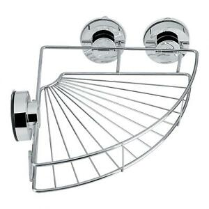 Stainless Steel Shower Shelf Storage With Vacuum Suction Cup Kitchen AU