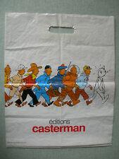 SAC PLASTIQUE PUBLICITAIRE : TINTIN ET L'ALPH ART 1986 HERGE BD CASTERMAN