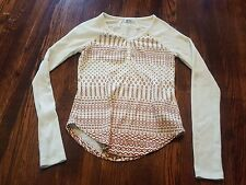 Marmot Women's Karla LS Cream Long Sleeve Shirt Pullover XS X-Small EUC