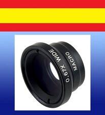 Lente ampliación fotos ANCHO 0,67x OJO DE PEZ macro iphone samsung smartphone ca