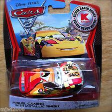 Disney PIXAR Cars 2 SILVER RACER SERIES Kmart MIGUEL CAMINO METALLIC FINISH DECO