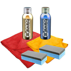 Lackschutz - Lackbeschichtung Nano Ceramic Wax Lackveredelungs-Set 6-teilig.