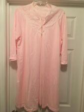 Van Raalte Pink Nylon Robe Size Large Vintage
