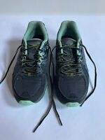 ASICS Womens Gel-Venture 6 Black/Carbon/Green Trail Running Shoes Size 9.5