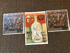 3-Postcard/Stickers Drive-By Truckers Jason Isbell Wes Freed Artwork Signed Auto