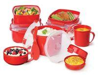 Sistema Microwave Lunch Box Bowl Steamer Poridge Noodles Soup Mug Food Container