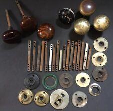 Antique Doorknob Driver Rods Mortise Lock Spindles, Back Plates & Doorknobs Lot