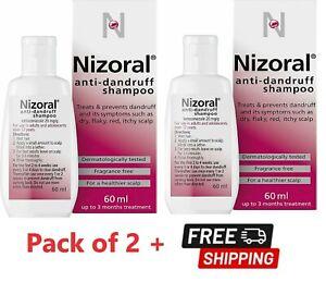 2x Nizoral Anti Dandruff Shampoo, For All Types Hair Treats Flaky Itchy Scalp UK