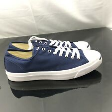 8f4b2cee9a41 Converse Men s Jack Purcell Jack Oxfords Midnight Navy Natural White Size  ...