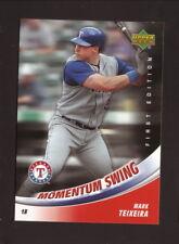 Mark Teixeira--2007 Upper Deck First Edition Momentum Swing--Texas Rangers