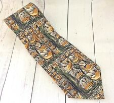 TIE RACK 100% Silk Novelty Disney Tie That's Donald Multi Colour Made In Italy