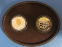 2001 Canada $5 Dollar & GB 2 Pound Sterling Silver Marconi 2 Coin Set 28.86g