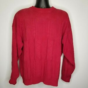 OAKTON Limited Men's Sweater X-Large Red Crew Neck Long Sleeve
