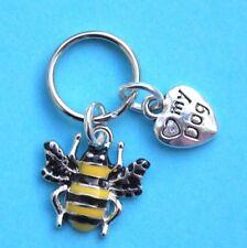 Dog Collar Charms Enamel Bee & Heart New Dog Tags LB1334