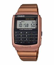 CA-506C-5A Rose Gold Black Casio Unisex Watches Data Bank Calculator Dual time