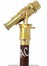 Maritime Nautical Telescope Handle Walking Stick Vintage Wooden Brown Cane Style