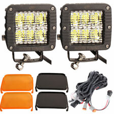 House Tuning 3inch LED Pods 60W Diffused Flood Beam Wiring Harness for Off road