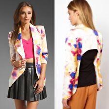 NWT $140 Finders Keepers Medium Ink Blot Living Daylights Open Blazer Jacket