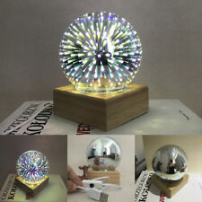 USB magique Base verre PLASMA boule sphère éclair Lampe Lumière cadeau fête