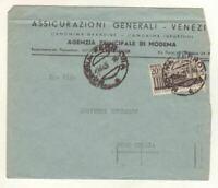 1916) ITALIA 1949 Cover Modena Rolo Emilia - XXVII Fiera Milano