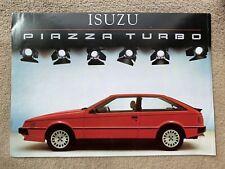 1985 Isuzu Piazza Turbo Car Brochure (UK)