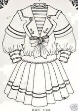 "23-24""ANTIQUE FRENCH BRU/JUMEAU-GERMAN DOLL SAILOR/MIDDY SUIT/DRESS PATTERN"