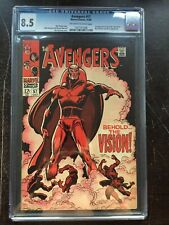 AVENGERS #57 CGC VF+ 8.5; OW-W; 1st app. Silver Age Vision!