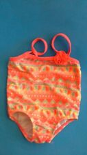 OP Baby Girl Pink Print One Piece Swimsuit Size 6/9M  GUC
