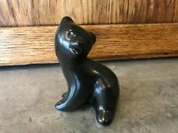 "4"" Vtg Pigeon Forge Pottery Black Bear Cub Signed D Ferguson Tenn MINT Figurine"