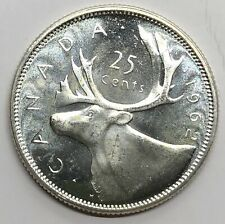 1962 Canada 25 Cent Quarter Silver Proof Coin (G275)
