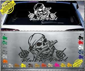 Skull Fuck You Black Pearl Aufkleber Sticker Frontscheibe Heckscheibe 59 bp-sk2