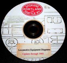 Spokane, Portland & Seattle 1969 Locomotive Diagrams & Data PDF Pages  DVD