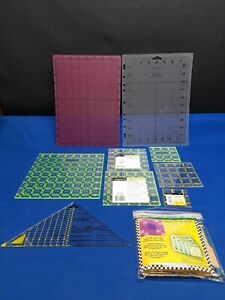 Acrylic Quilters Ruler Square Template Grid Tool Quilting Fiskars Craft Pro Mat