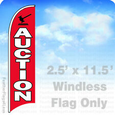 Auction - Windless Swooper Flag Feather Banner Sign 2.5x11.5 - rb