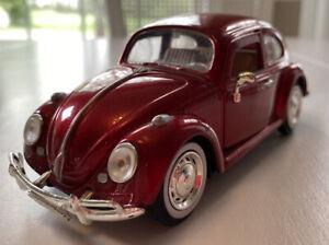 Die Cast 1/24 1966 Volkswagen Beetle Model 68023 Red, Unbranded