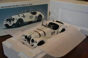 RARE AUTOART MILLENNIUM 1938 BMW 328 ROADSTER MILLE MIGLIA 1:18 WHITE OVER BLACK