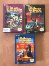 "Nes Ultima Exodus, Quest Of Avatar & Warriors Of Destiny Trilogy ""Rare CIB Set"""