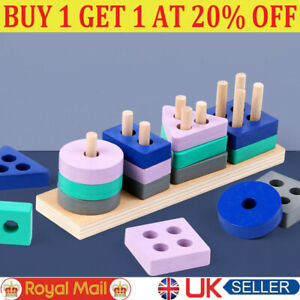 Wooden Toys For 1 2 3 4 5 Years Lead-free Old Boys Girls Toddler Educational F
